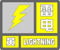 雷电黄色预警标志